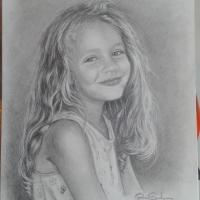 Porträtt på min dotter.
