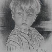 Porträtt på min son.