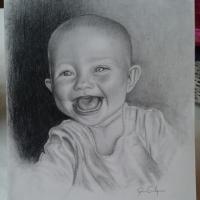 Porträtt på min yngsta dotter.