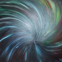 Black hole 101x82 cm