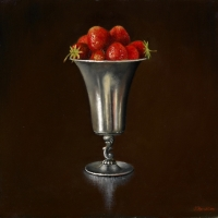 Strawberry in a silverjug 30x30