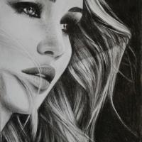 Porträtt på Jennifer Lawrence