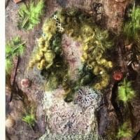 flickan med grönt ullhår