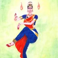 Bharatanatyam-dansös