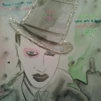 Marilyn Manson Katt i Hatt