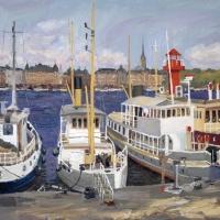 Båtar vid Skeppsholmen
