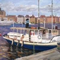 Båt vid Skeppsholmen