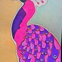 Rosa påfågeltupp