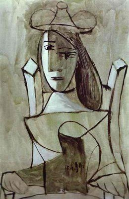 Pablo Picasso - Young Girl Struck by Sadness